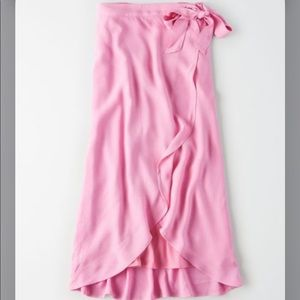 AE Pink Maxi Wrap Skirt